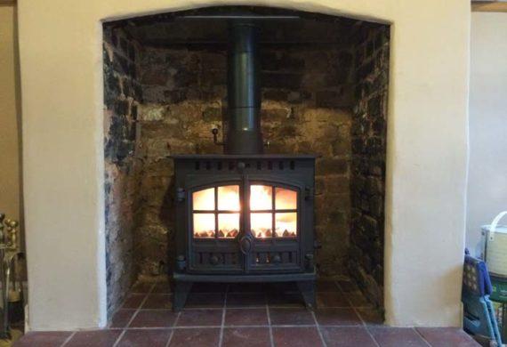 new log burner installation