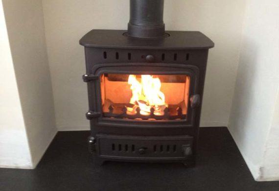 log burner alight