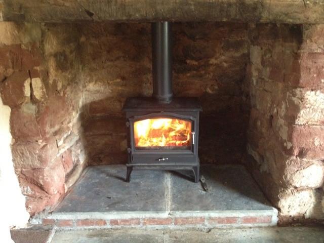 new wood burner installed by HETAS engineers
